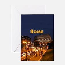 Rome_2.5x3.5_Ornament(Oval)_Colosseu Greeting Card