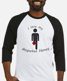 I Love my Honey Amputee Baseball Jersey