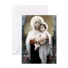 Madona with roses Bouguereau Greeting Card