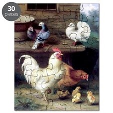 Rooster chicks and pigeons Puzzle