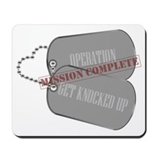 Dog Tag - Operation Get Knocked Up - Mis Mousepad
