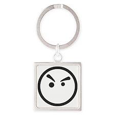 Grump Square Keychain