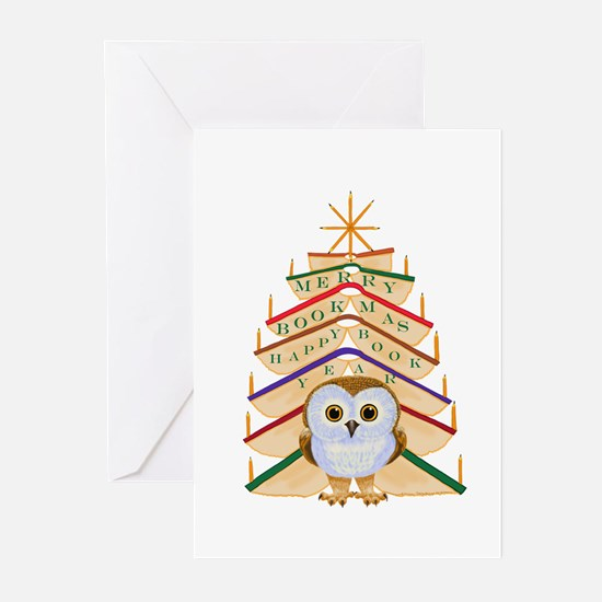 Merry Bookmas! Greeting Cards