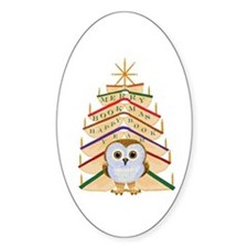 Merry Bookmas! Decal