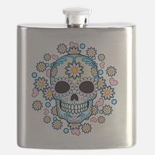 Colorful Sugar Skull Flask