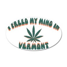 weed-vermont-CAP 35x21 Oval Wall Decal
