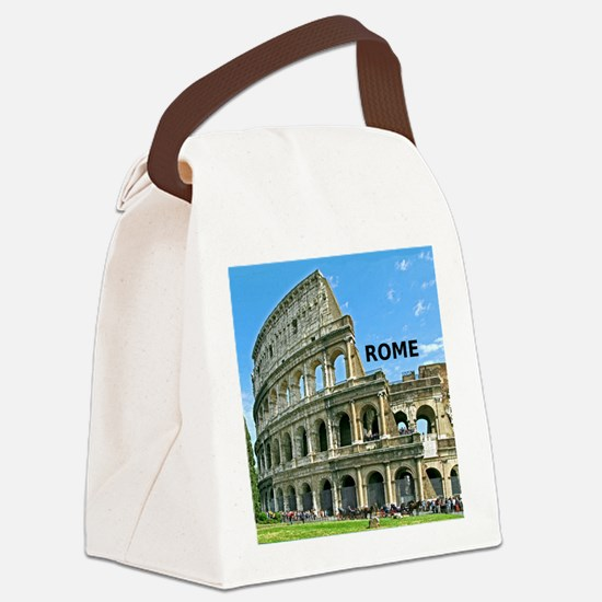 Rome_12x12_v2_Colosseum Canvas Lunch Bag