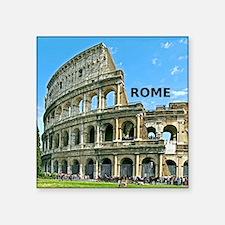 """Rome_12x12_v2_Colosseum Square Sticker 3"""" x 3"""""""