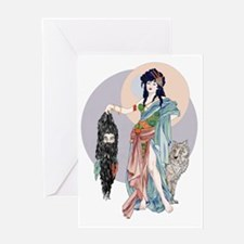 Hecate and  Clytius Greeting Card