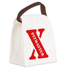 Red X Canvas Lunch Bag