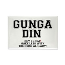 GUNGA DIN - MAKE LESS WITH THE NO Rectangle Magnet