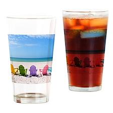Summer Beach Drinking Glass