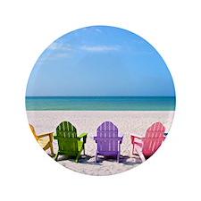 """Summer Beach 3.5"""" Button"""