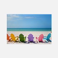 Summer Beach Rectangle Magnet