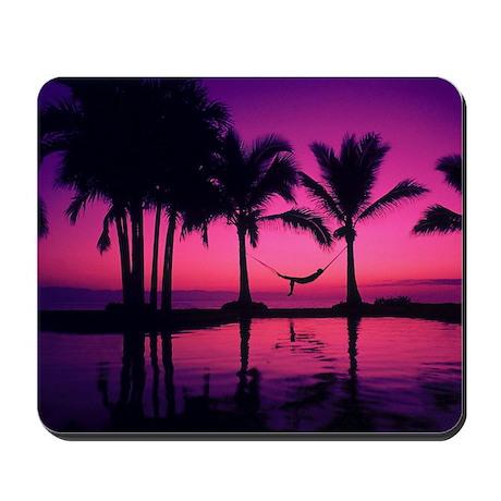 Purple Beach Sunset Mousepad