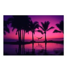 Purple Beach Sunset Postcards (Package of 8)