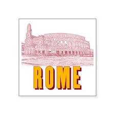 """Rome_18x18_Colosseum Square Sticker 3"""" x 3"""""""