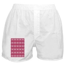 D60x84 ogee links white dk pink Boxer Shorts