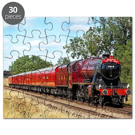 Vintage Steam Engine Puzzle