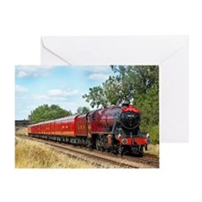 Vintage Steam Engine Greeting Card