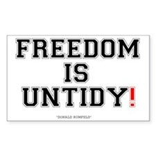 FREEDOM IS UNTIDY - DONALD RUM Decal