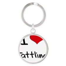 I love Tattling Round Keychain