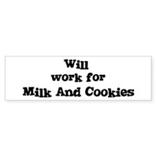 Will work for Milk And Cookie Bumper Car Sticker