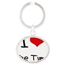 I love Tee Time Oval Keychain