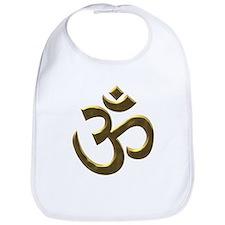 Golden Ohm & Buddha Quote Bib