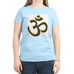Golden Ohm & Buddha Quote Women's Light T-Shirt