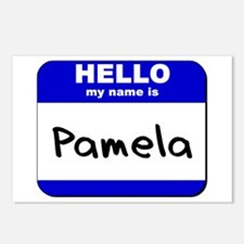 hello my name is pamela  Postcards (Package of 8)