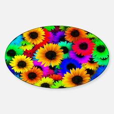 Sunflowers SB Sticker (Oval)