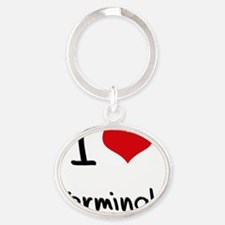 I love Terminals Oval Keychain