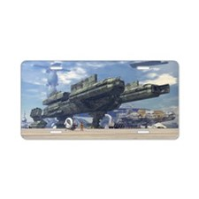 Space Port Aluminum License Plate