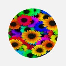 """Gorgeous Sunflowers 3.5"""" Button"""