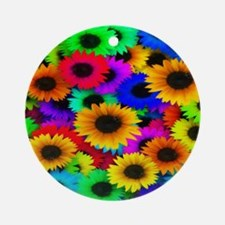 Gorgeous Sunflowers Round Ornament