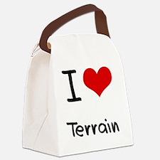 I love Terrain Canvas Lunch Bag