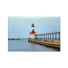 Michigan City Lighthouse Rectangle Magnet