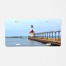 Michigan City Lighthouse Aluminum License Plate