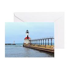 Michigan City Lighthouse Greeting Card