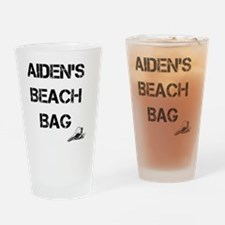 Personalized Kids Beach Tote Bag Drinking Glass