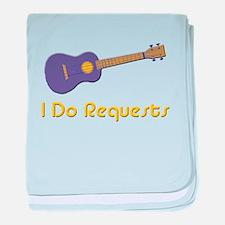 funny ukulele uke baby blanket