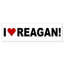 I Love Reagan Bumper Bumper Sticker