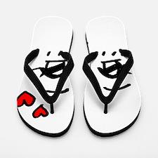 Cute Faces Flip Flops