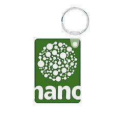 nano- white on green, stac Keychains