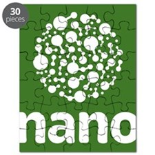 nano- white on green, stacked Puzzle