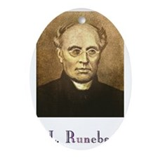 J.L. Runeberg w text Oval Ornament