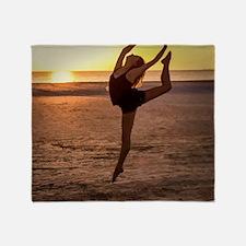 Ballet on the Beach Throw Blanket