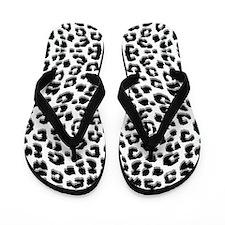 Snow Leopard Print Flip Flops