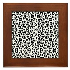 Snow Leopard Print Framed Tile